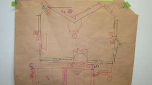 A quick sketch of the PSP entrance to consider where the finished map will hang.