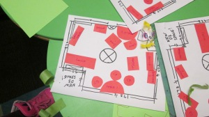 Cut paper symbolizes current furniture